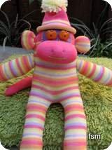 monkey sock doll