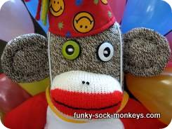 happy birthday sock monkey face