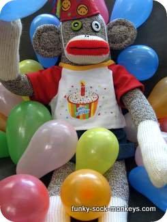 happy birthday sock monkey body
