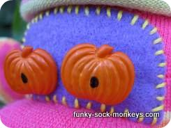 monkey sock doll face