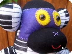 monkey sock doll face