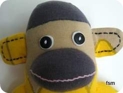 sock monkey socks face