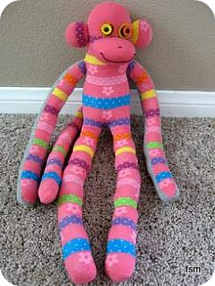 pink sock monkey pictures