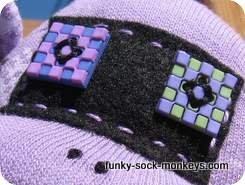 purple sock monkey face