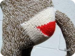red heel socks sock monkey butt