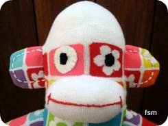 sock doll face picture