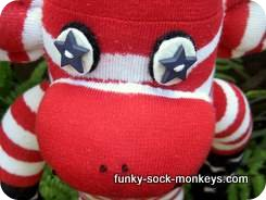 sock monkey dolls eyes