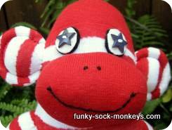 sock monkey dolls face