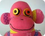 pink sock monkey picture