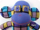 funky sock monkey picture