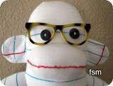 funny sock monkey picture