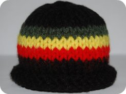 sock monkey rasta hat