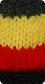 rasta colors sock monkey hat