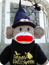 halloween witch hats black sock monkey