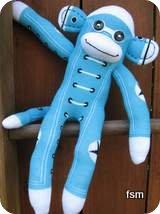 sock monkey toy
