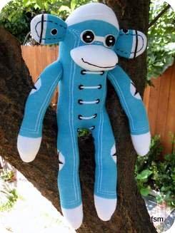 sock monkey toy hightop