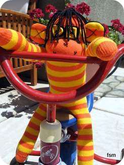sock monkey doll dreadlocks