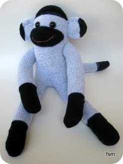 Wigwam socks - sock monkey body