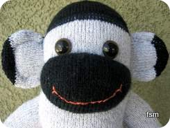 sock monkey faces