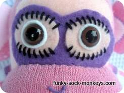 dancing sock monkey face