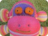 sock monkey pumpkin face