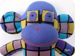 funky sock monkey face
