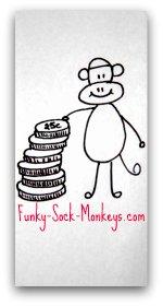 little girl purse sock monkey coins