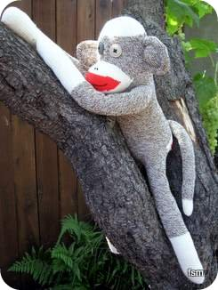 red heel socks sock monkey