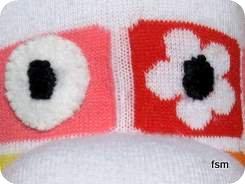 sock doll face