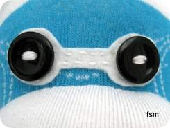 sock monkey toy face