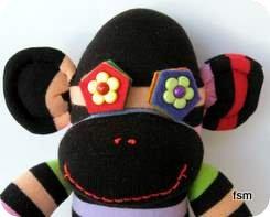 sock toys sock monkey face