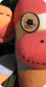 sock monkey argyle socks